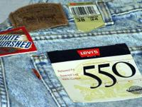 BRAND NAME NEW Levis # 550 White Washed Denims from the