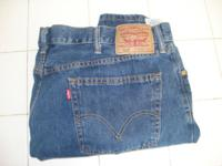 Levis 505 size 40 X 30. Nothing wrong with them, only