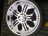 -Lexani 26 inch rims with tires -3excellent condition