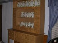 Lexington furniture china cabinet/hutch for sale. Light