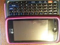 LG 510 Cleartalk black phone with slide out keyboard.