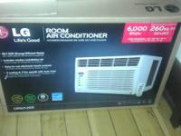 LG 6,000 BTU Window Air Conditioner with remote.  It is