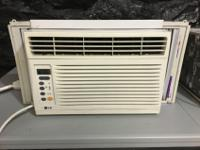 This is a LG Window AC. It is 6,500 BTU. Cools down a