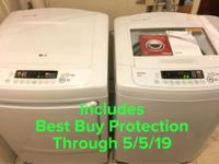 LG High Efficiency Washer and Dryer Set. Includes