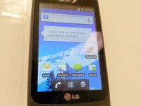 Here is one of our phones - a LG Optimus S (Sprint). It