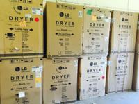 LG BRAND NAME DRYERS. BRAND NEW IN THE BOX!!! DIFFERENT