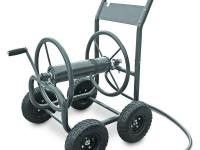 The Liberty Garden Products 4-Wheel Hose Cart makes it