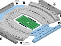 Offering midfield lower level tickets in area 107, Rows