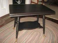 Library Table Antique Gl Ball Feet 95 Eagle Point