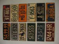 I have 42 bicycle plates from 1954 and 1955, (mostly