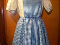 Gently used Licensed Wizard of Oz Dorothy costume by