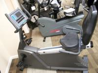 LIFE CYCLE 5500 HR UPRIGHT BIKE. GREAT BIKE FOR THE