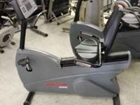 Life Fitness 9500HR Recumbent Lifecycle Bike FEATURES: