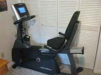 Life Fitness recumbent bike, the best brand in exercise