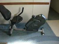 LIFE GEAR LAY DOWN EXERCISE BIKE. EVERYTHING WORKS AND