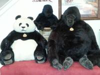Life sized Dakin Gorilla's & Panda Stuffed Animals.