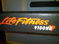 The Life Fitness 9100HR is 31 inches wide, 80 inches