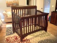 Life time conversion baby crib. Like brand-new