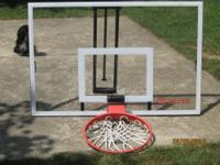 "for sale is a lifetime elite 54"" acrylic backboard and"
