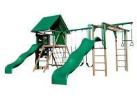 The Lifetime Double Slide Deluxe Playset is the perfect
