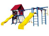 The lifetime double slide deluxe play set is the