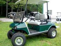 This cart has the all aluminum club car frame, 48 volt
