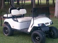 "The cart has a 6"" lift, 12 "" wheels and tires, rear"