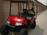 Lifted 2008 gas EZ-GO RXV golf cart. This is a