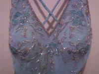 443e29be5d56fd Beautiful light blue material with beading detail all