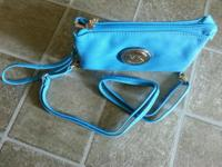 light blue hand bag.it is light to carry. Easy to