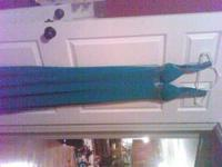 I have a long light blue prom dress. It looks better