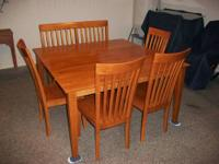 Set will consist of table, 4 chairs, 2 person bench.
