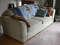 Matching sofa and loveseat. Sofa is 88 inches long,
