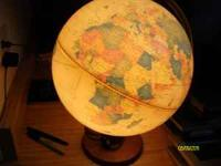 12 inch diameter light up desk globe $20 obo if