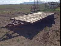 For sale, a 7'x15' flatbed tandom axel trailer. It