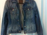 Size Small, Garage Beautiful light wash jean jacket to