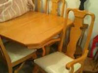 Light Wood Kitchen Table. 5 1/2' long 3 1/2' wide it