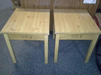 We have a nice pair of end tables for sale They are in