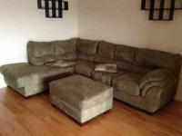 Nice brown sectional and decatchable reclining lounge