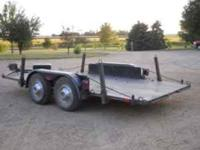 "Light Duty Tandem Axle Car Trailer: 14' x 78"", Light"