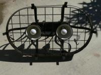 18x28x36h two spotlights incorporated into a pot rack,
