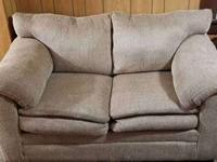 I am selling our Light Tan Textured Fabric Loveseat