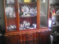 Lighted China dutch, cherry wood, looks antique, but