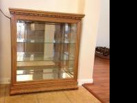FOR SALE: Lighted Curio Cabinet. Has mirrored bottom