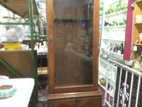 "Lighted Gun cabinet with secret. 26"" broad x 15"" deep x"