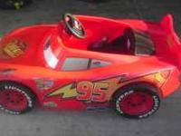 We are selling a lightening mcqueen power wheels, it is