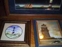 have different lighthouse framed pics and many