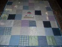 This brand new handmade French Plaid Lighthouse Quilt