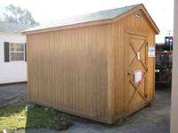 Used leonard building, 8x10, wood building. T1-11