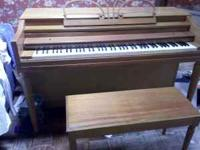 Lightly used piano. All keys function well, but may